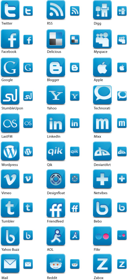 Social Media Network Icons by Iconshots.com