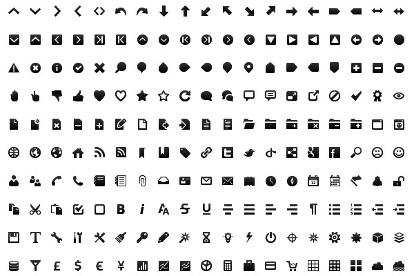 Wireframe toolbar icons