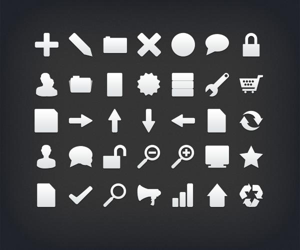Icons Black on Desktop Black White Simple Icon