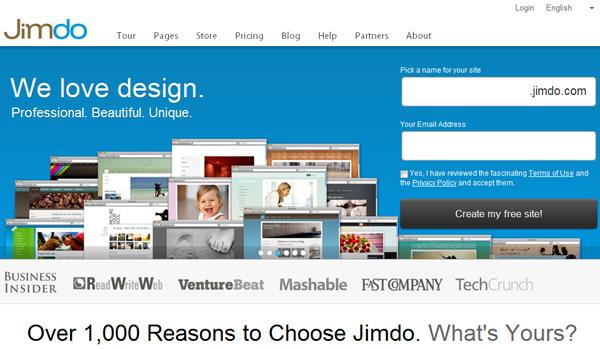 Jimbo free website builder