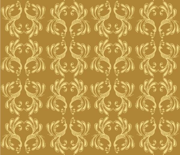 Golden Bird Pattern