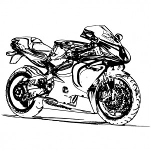 Motorbike Draft Drawing