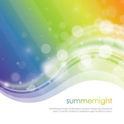 Summer Night Vector Graphic
