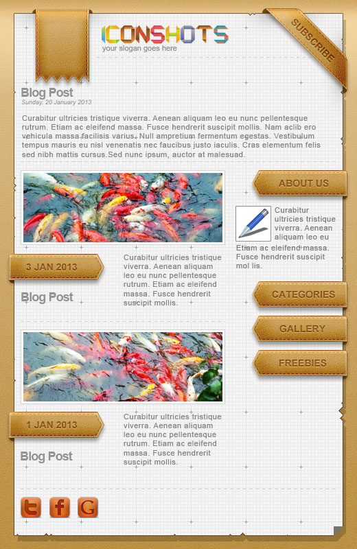 Blog Web Theme