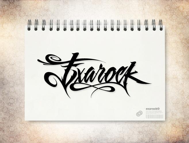 exarock_logo_calligraphy_by_exageth