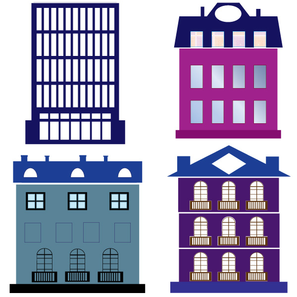 Buildings vector graphic design blog for Apartment floor plans vector
