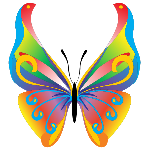 butterfly vector graphic � design blog