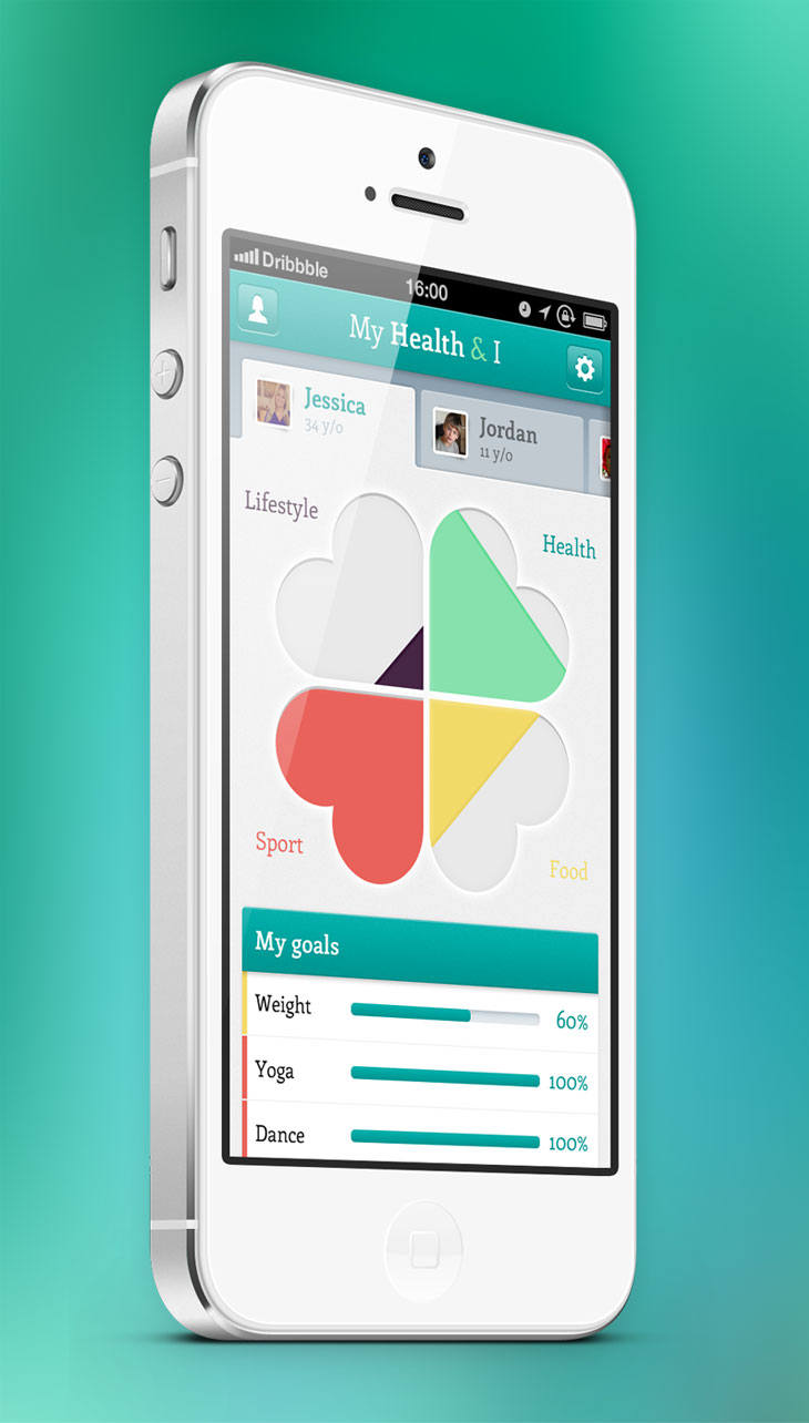 My health iphone app design blog for Designing an iphone app